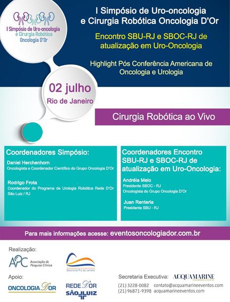 I Simpósio de Uro-oncologia  e cirurgia robótica oncologia D'OR